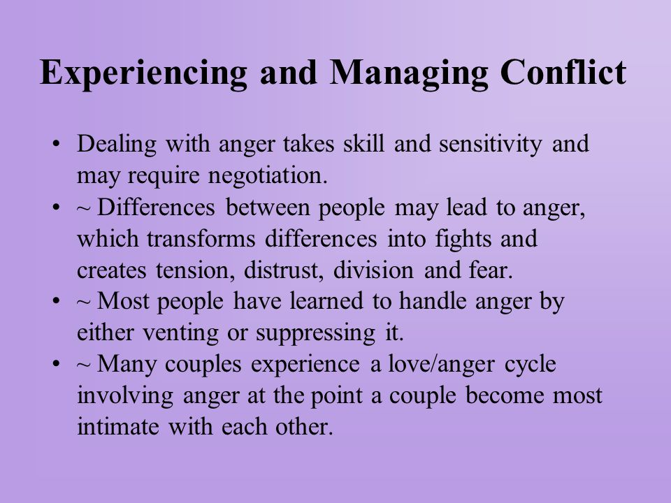 Experiencing and Managing Conflict