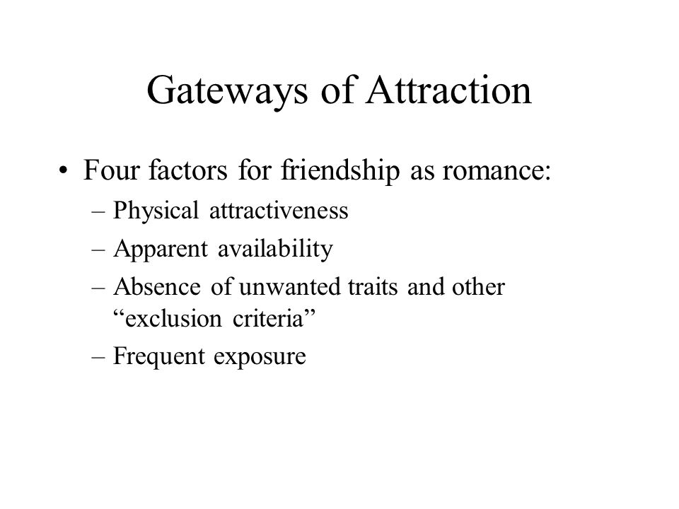 Gateways of Attraction