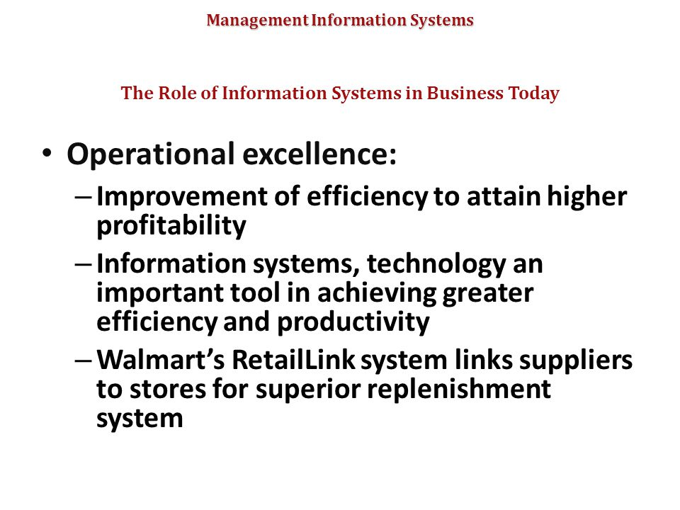 why information systems are so essential