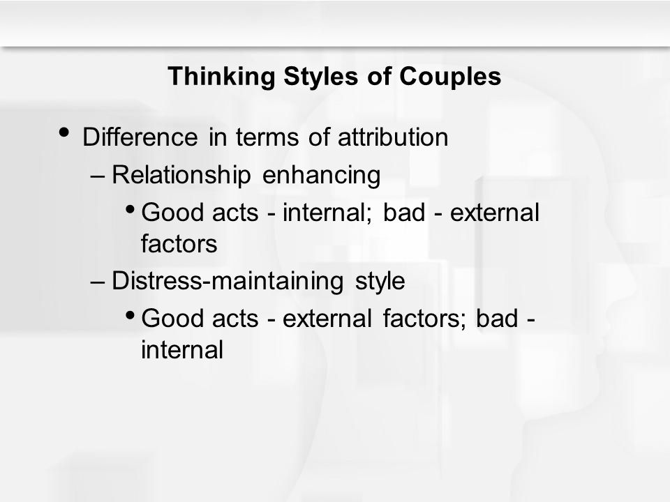 Thinking Styles of Couples