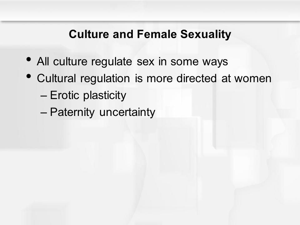 Culture and Female Sexuality