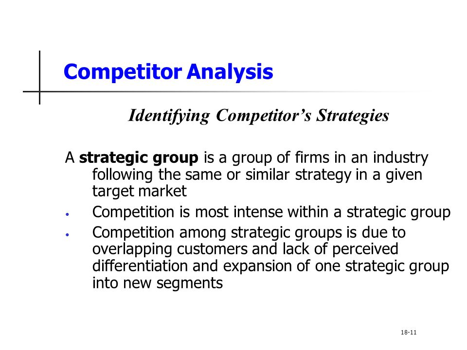 Identifying Competitor's Strategies