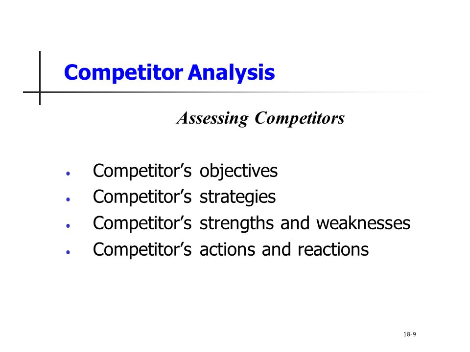 Assessing Competitors