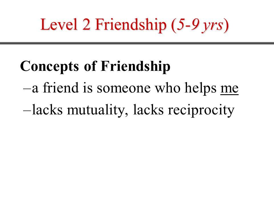 Level 2 Friendship (5-9 yrs)