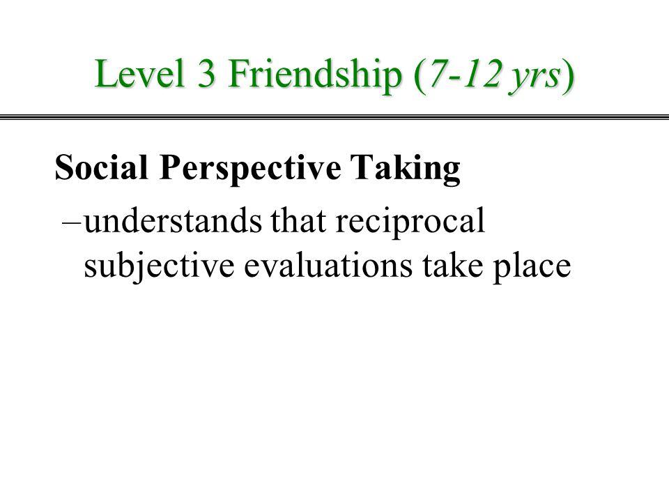 Level 3 Friendship (7-12 yrs)