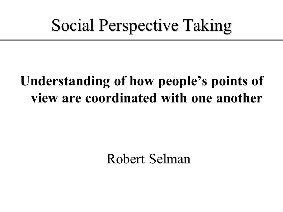 Social Perspective Taking