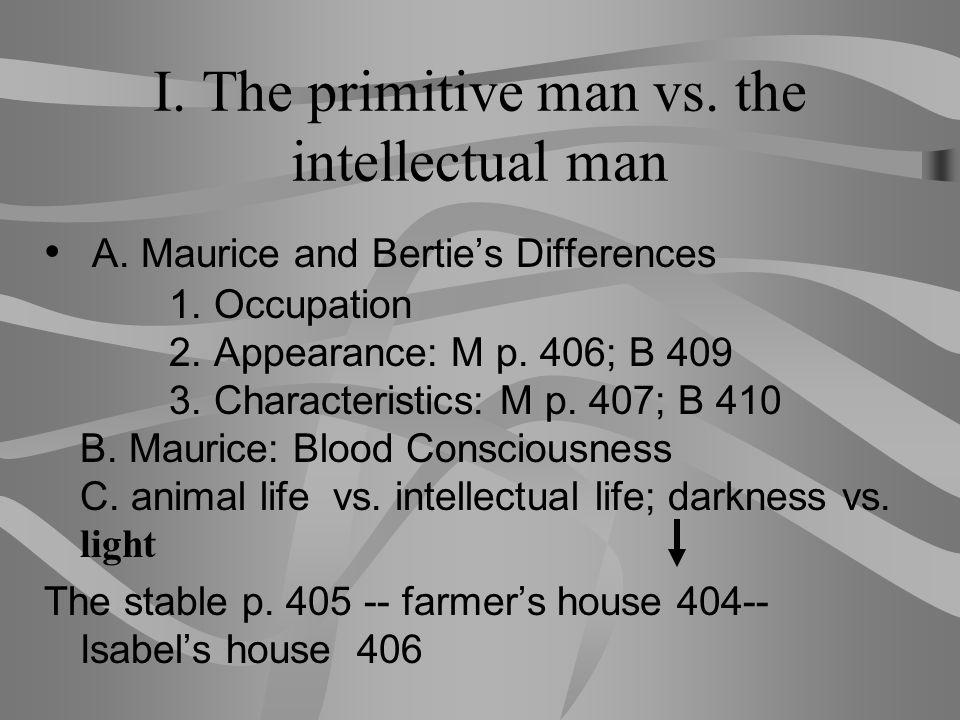 I. The primitive man vs. the intellectual man