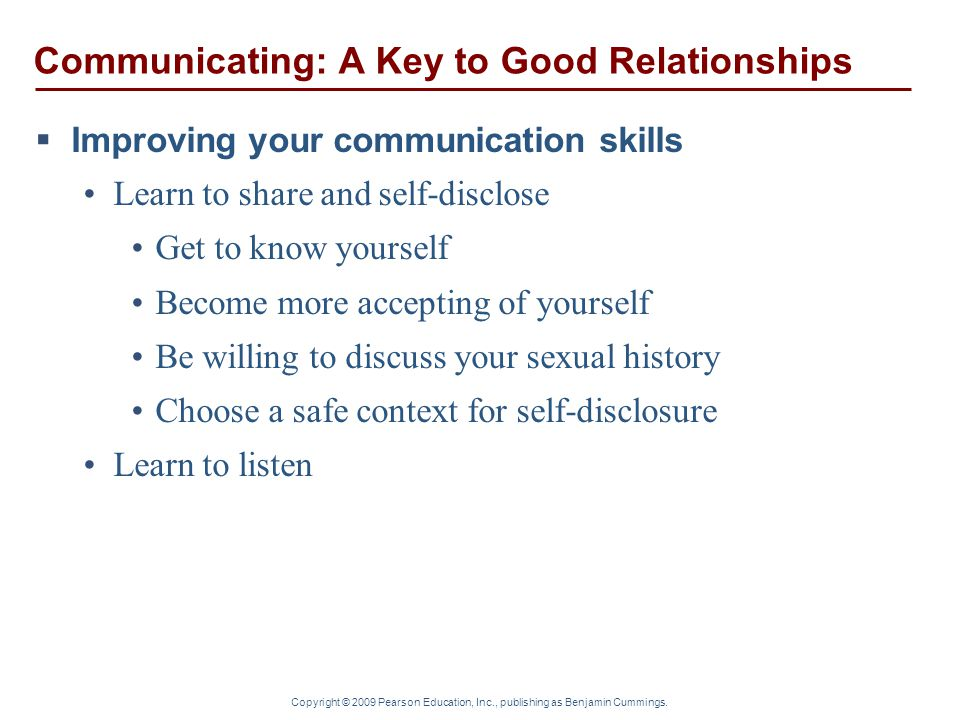 Communicating: A Key to Good Relationships