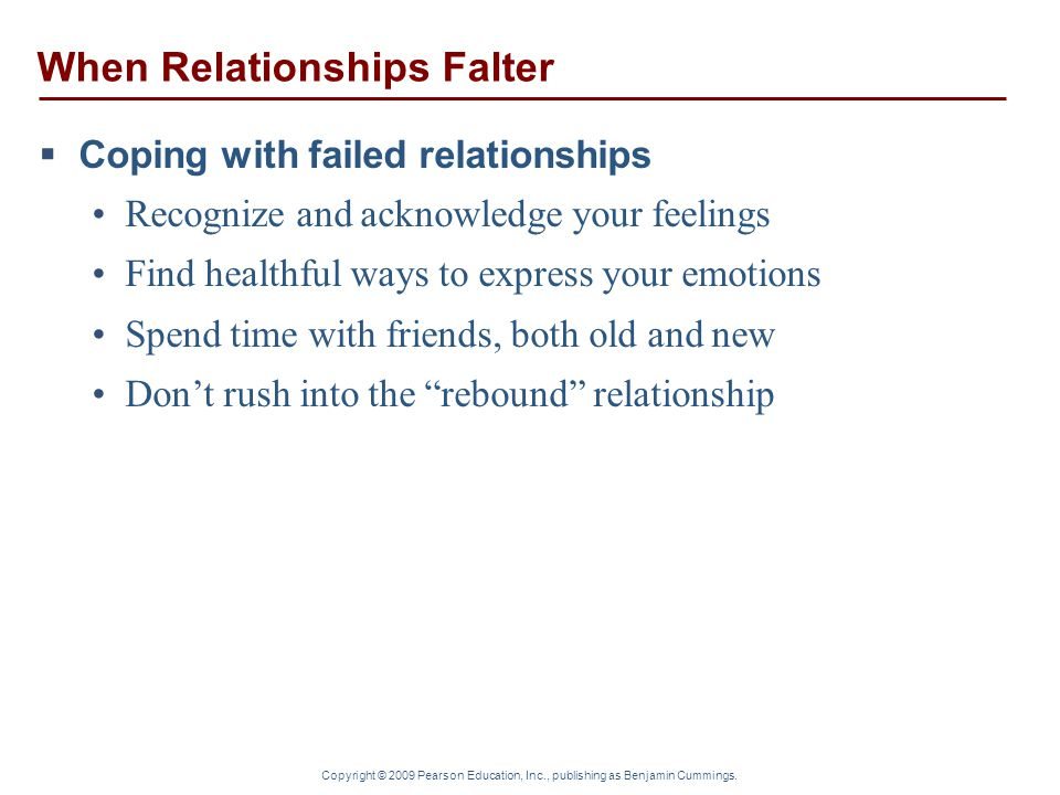 When Relationships Falter