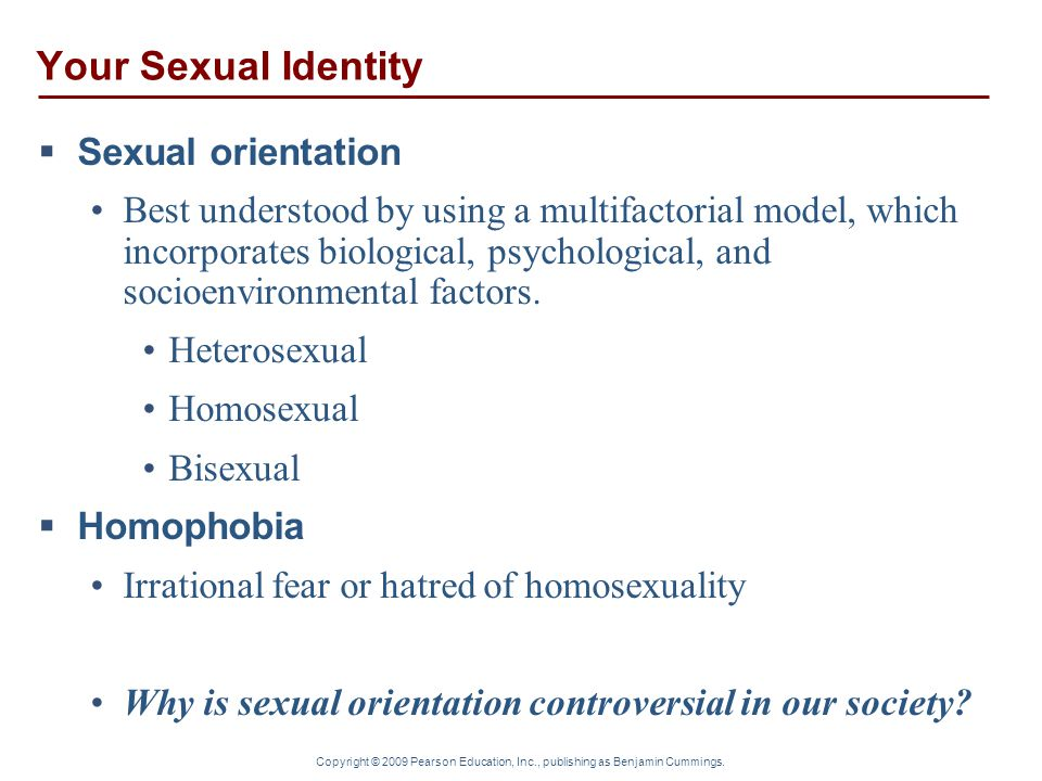 Your Sexual Identity Sexual orientation
