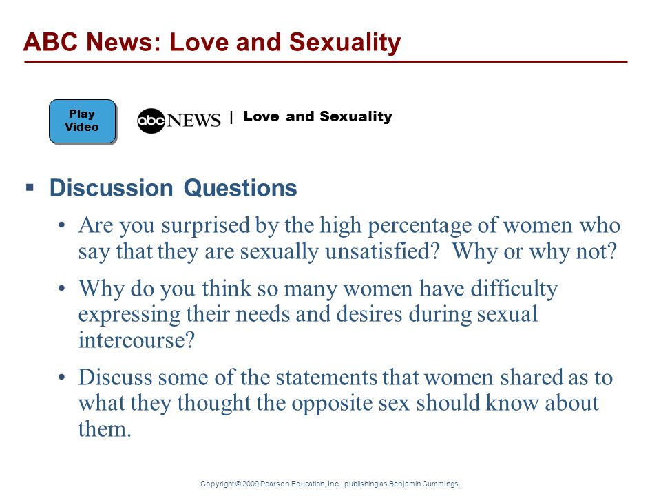 ABC News: Love and Sexuality