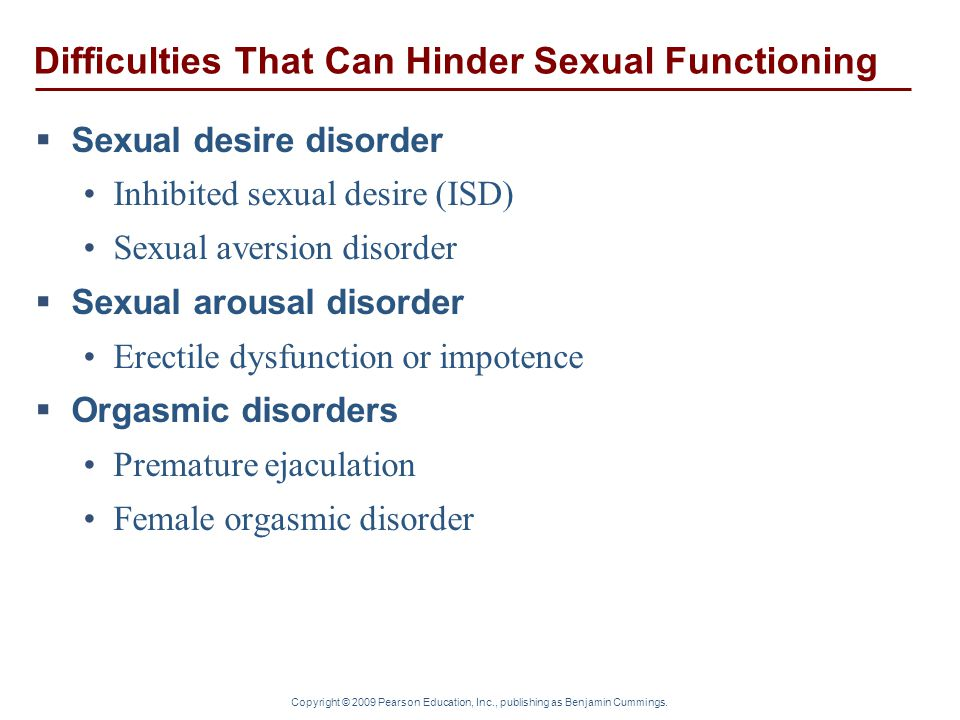 Difficulties That Can Hinder Sexual Functioning