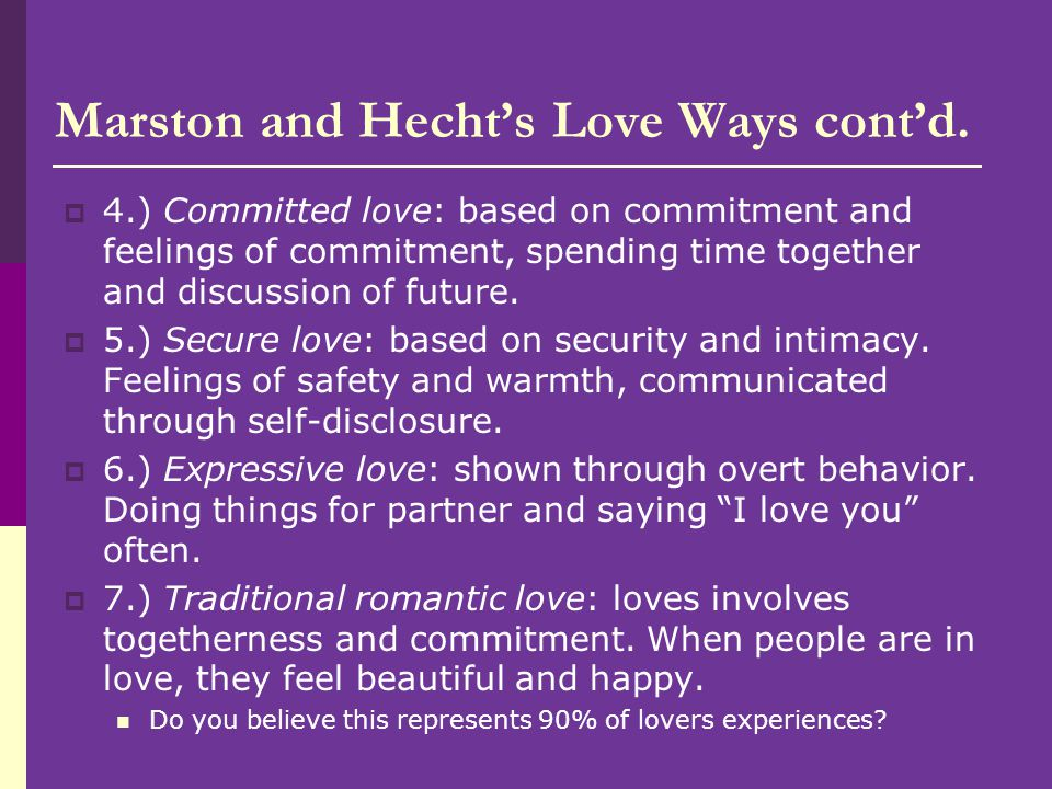 Marston and Hecht's Love Ways cont'd.