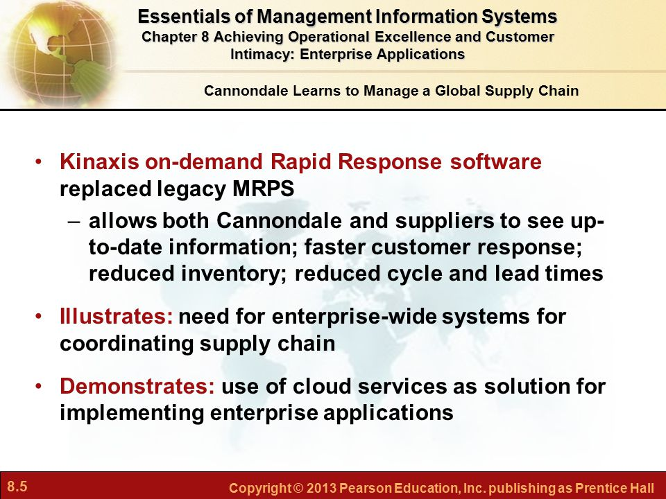 Kinaxis on-demand Rapid Response software replaced legacy MRPS