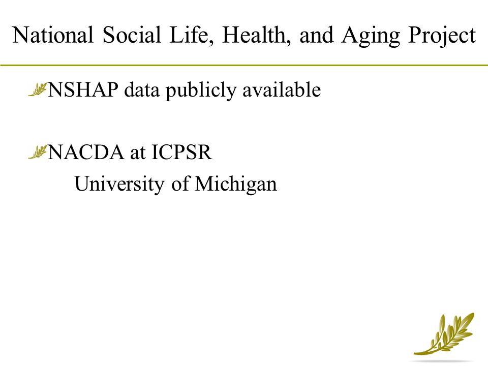 National Social Life, Health, and Aging Project