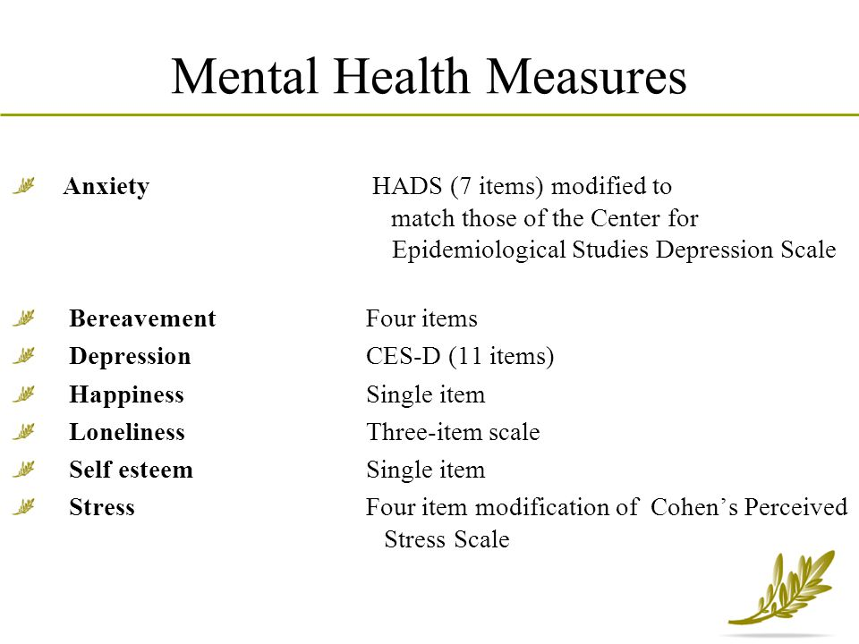 Mental Health Measures