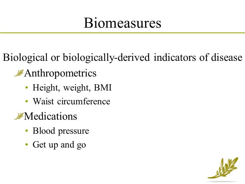 Biological or biologically-derived indicators of disease