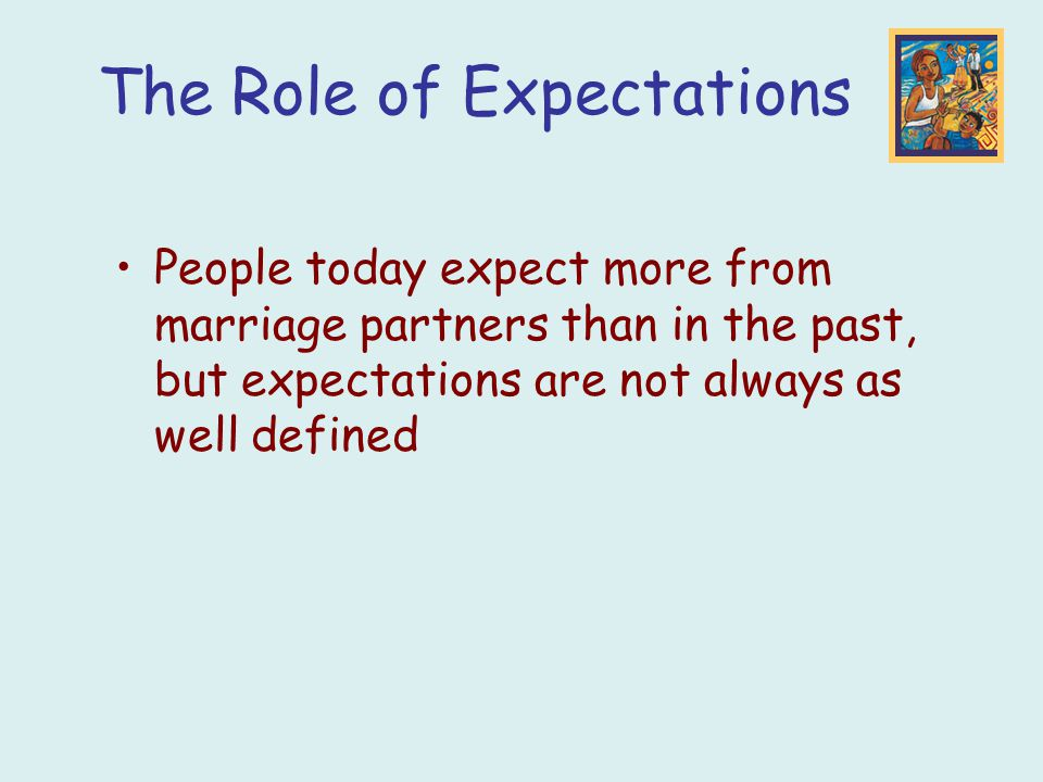 The Role of Expectations