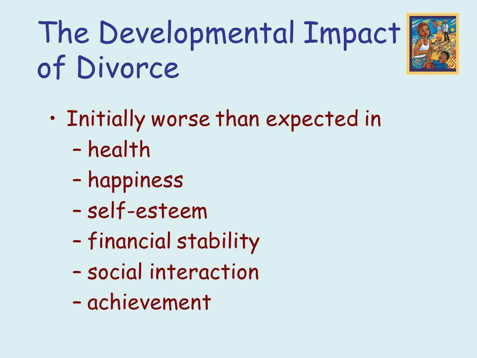 The Developmental Impact of Divorce