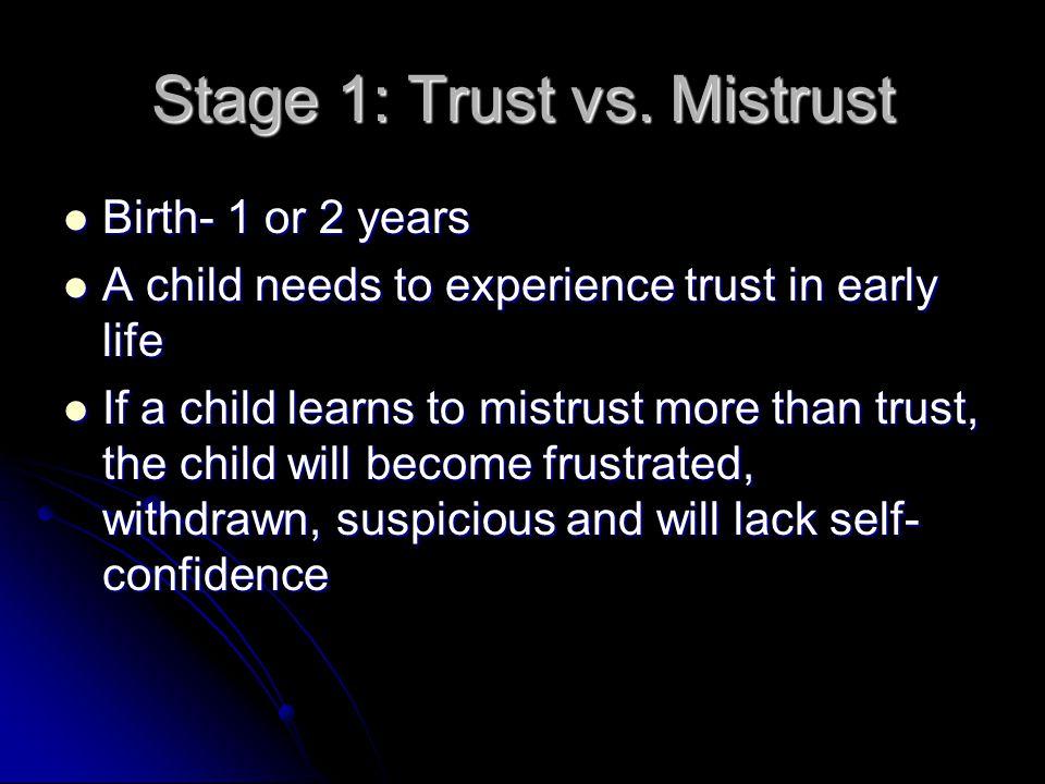 Stage 1: Trust vs. Mistrust