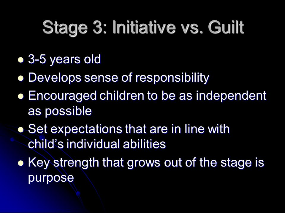 Stage 3: Initiative vs. Guilt