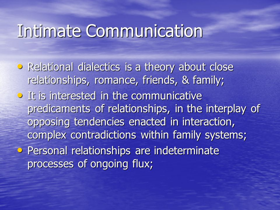 relationship and communication theory