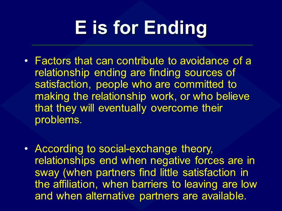 E is for Ending
