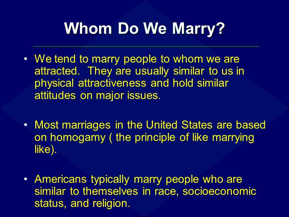 Whom Do We Marry