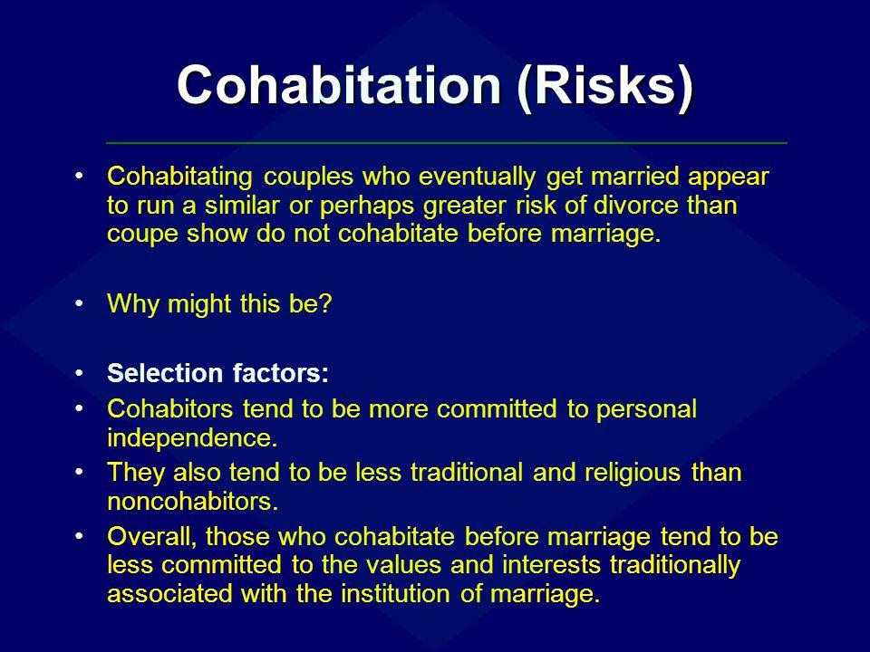 Cohabitation (Risks)