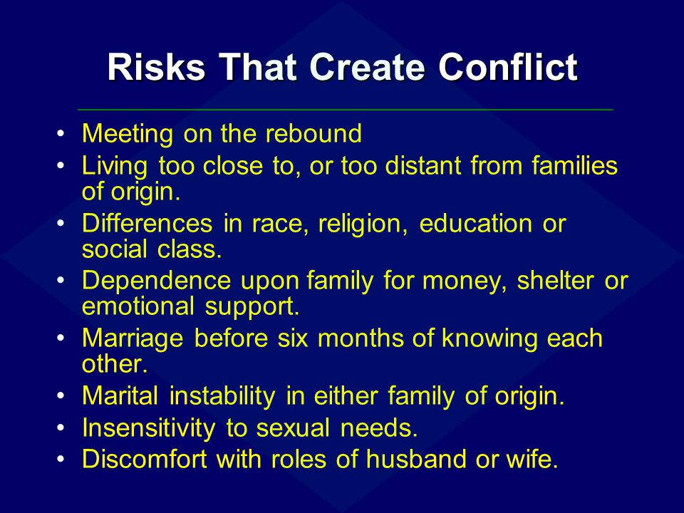 Risks That Create Conflict
