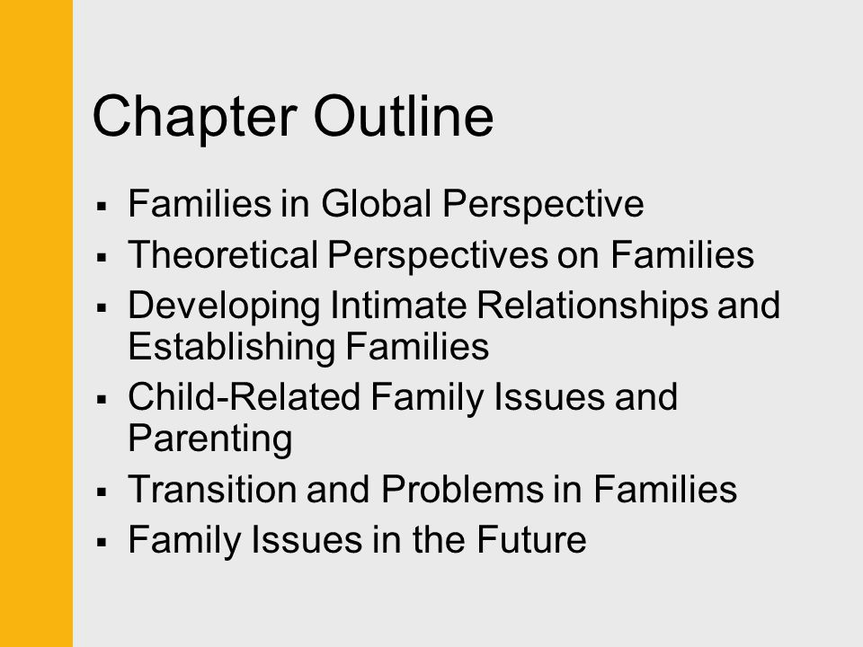 Chapter Outline Families in Global Perspective