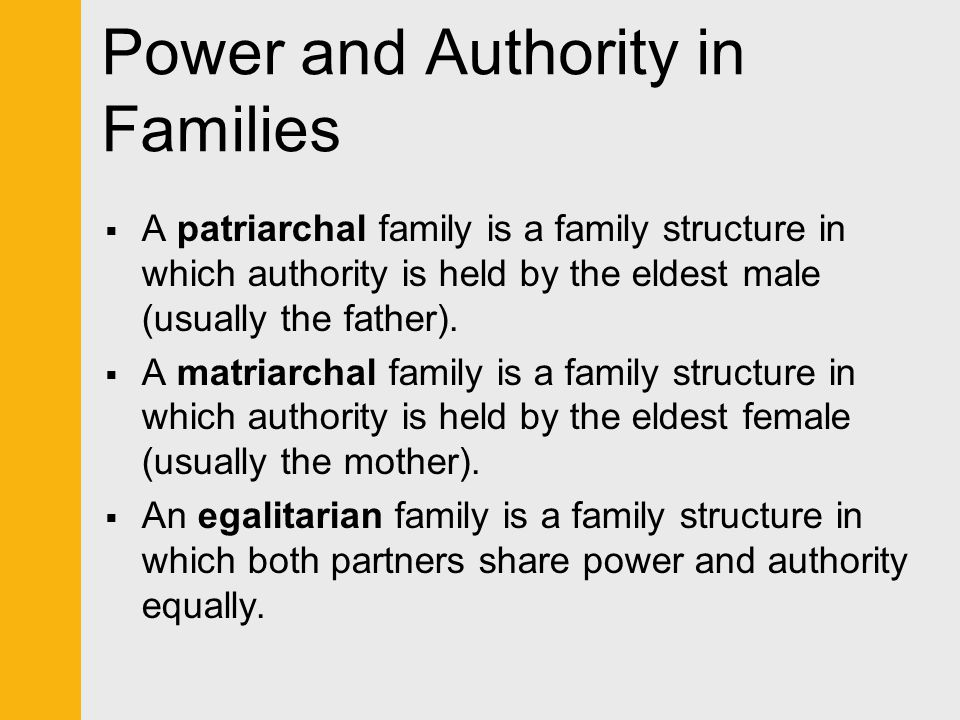 Power and Authority in Families