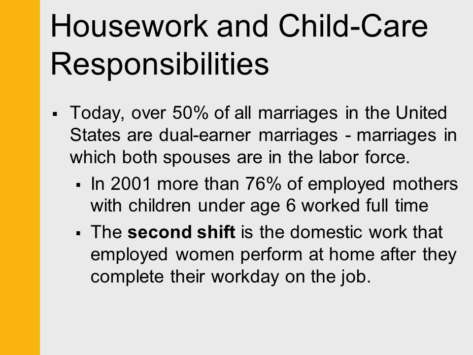 Housework and Child-Care Responsibilities
