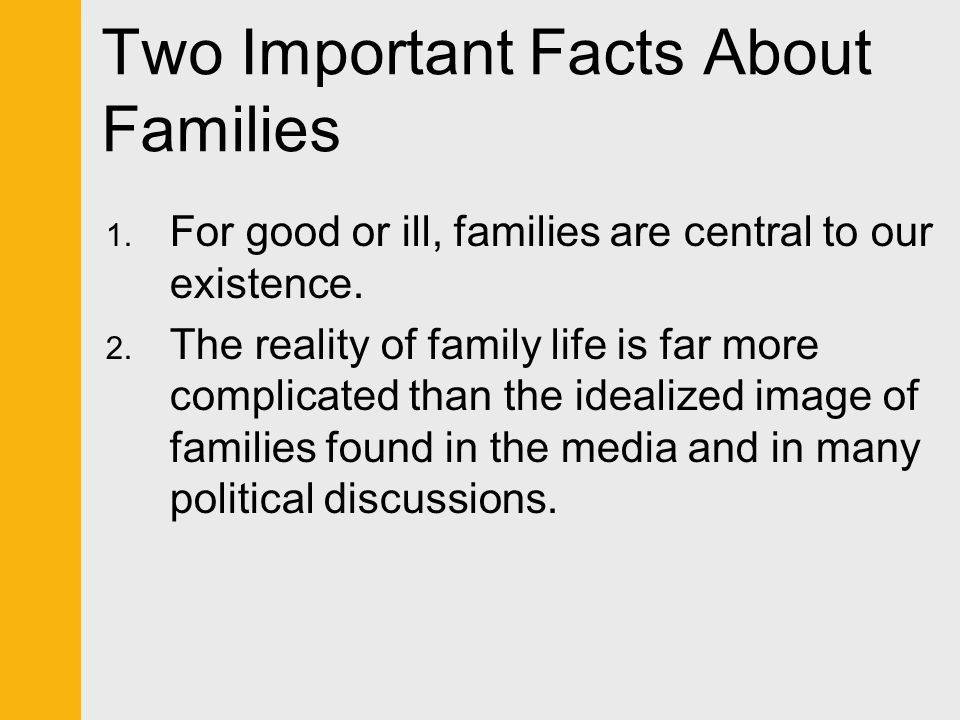 Two Important Facts About Families