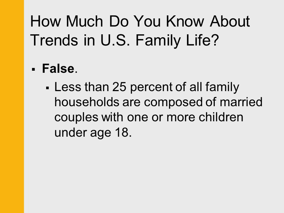 How Much Do You Know About Trends in U.S. Family Life