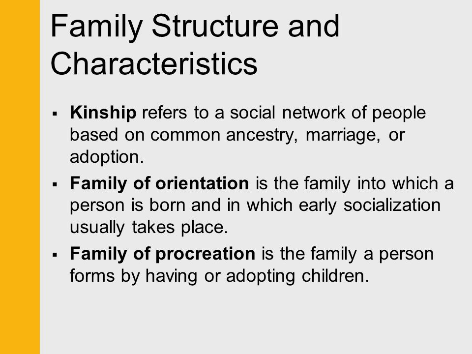 Family Structure and Characteristics