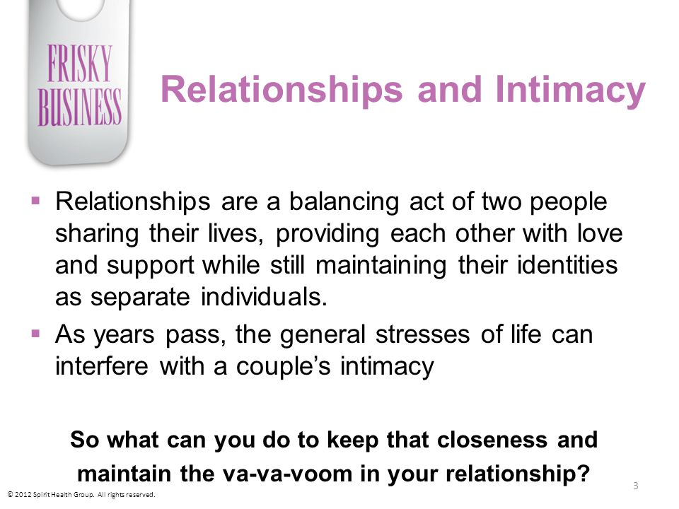 Relationships and Intimacy