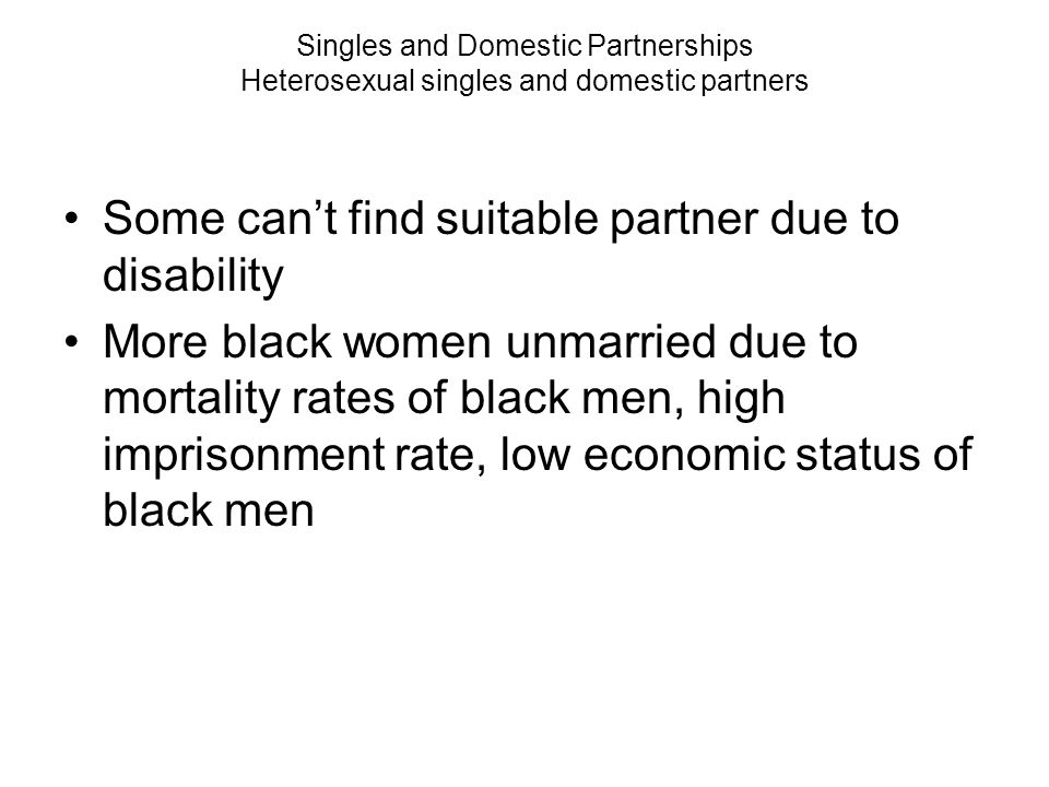 Some can't find suitable partner due to disability