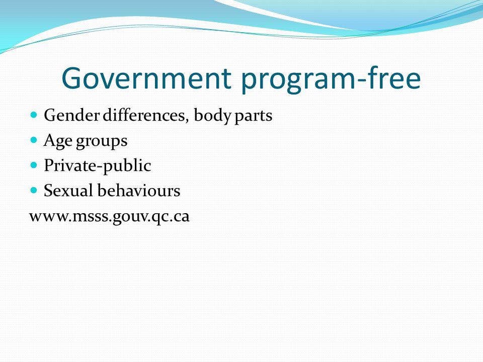 Government program-free