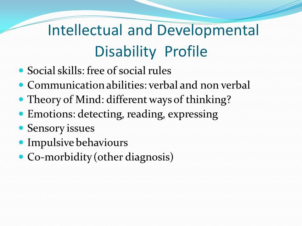 Intellectual and Developmental Disability Profile
