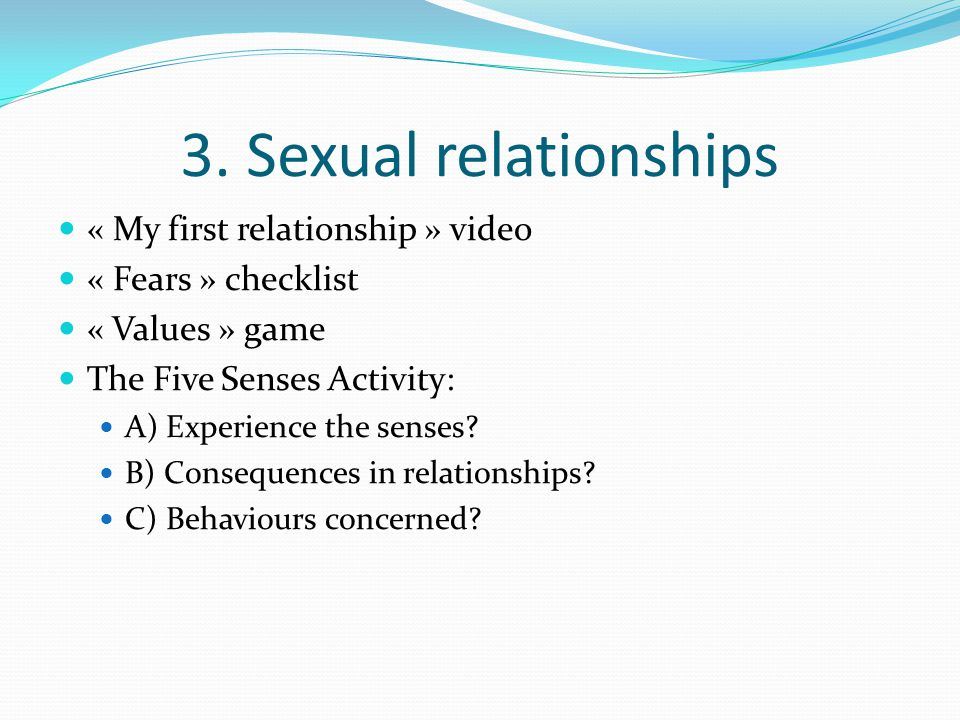 3. Sexual relationships « My first relationship » video