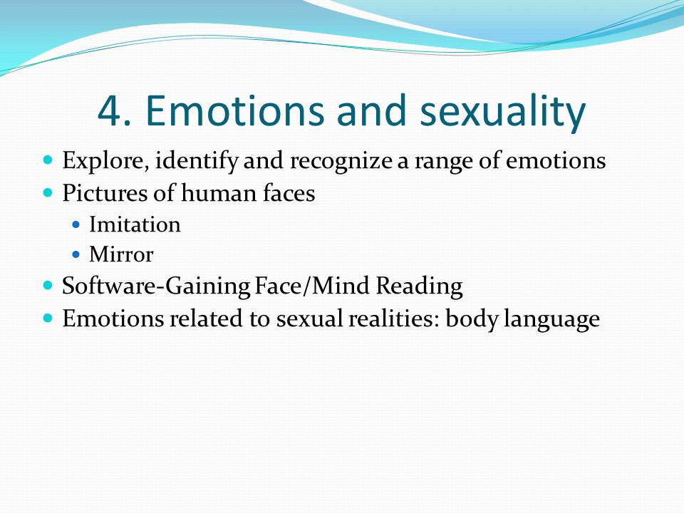 4. Emotions and sexuality