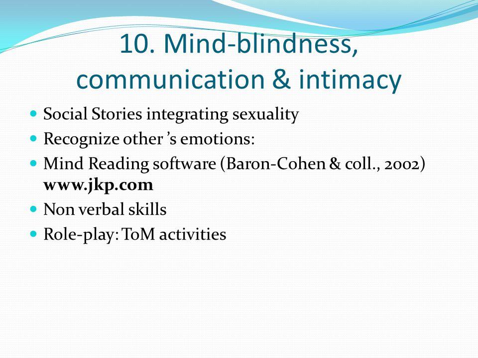 10. Mind-blindness, communication & intimacy