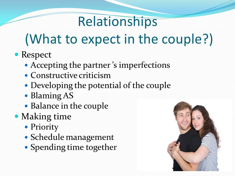 Relationships (What to expect in the couple )