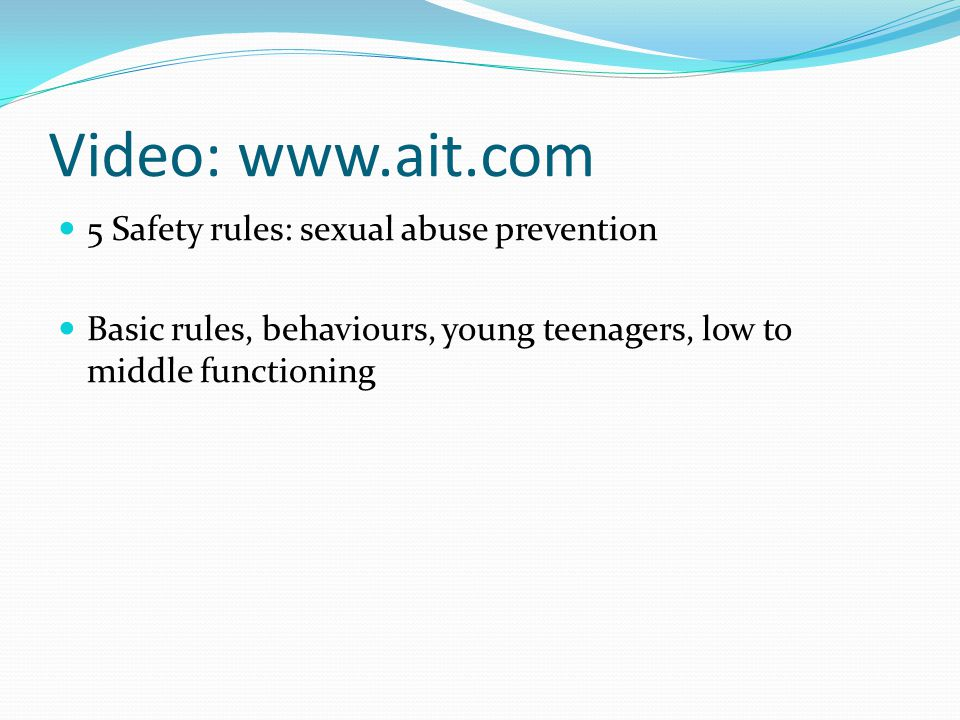 Video: www.ait.com 5 Safety rules: sexual abuse prevention