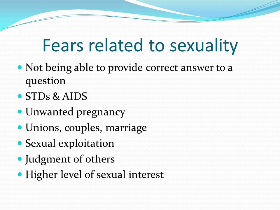 Fears related to sexuality