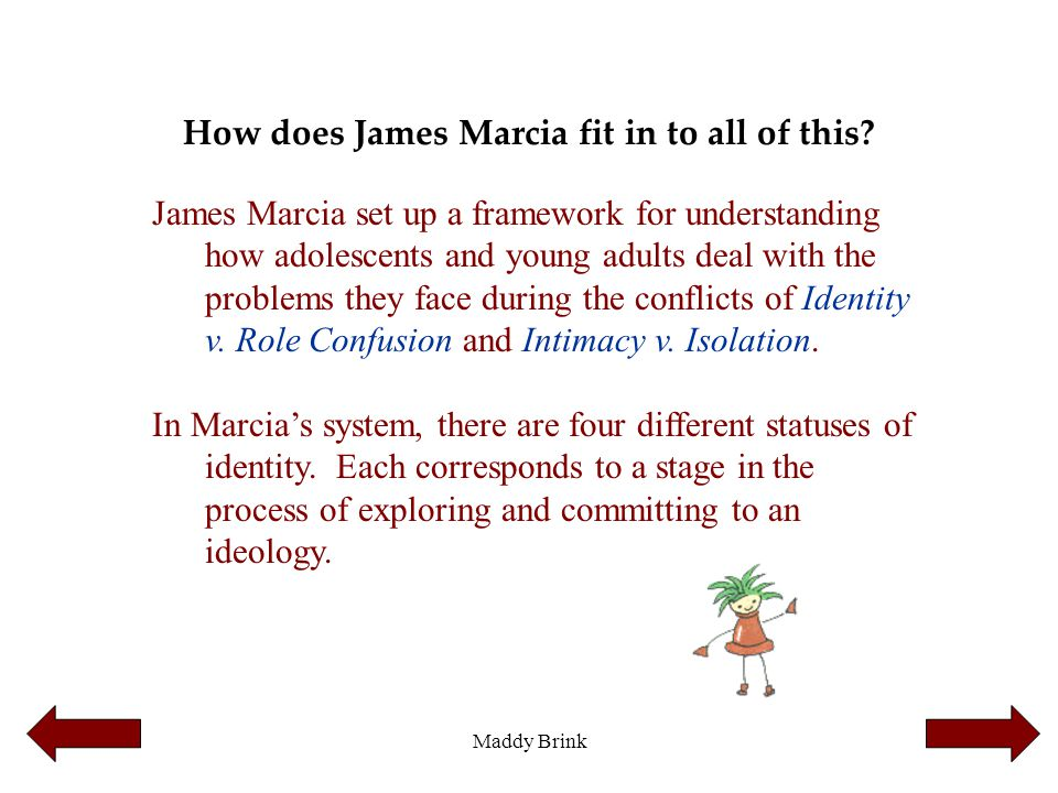 How does James Marcia fit in to all of this