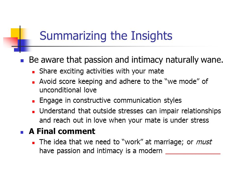 Summarizing the Insights