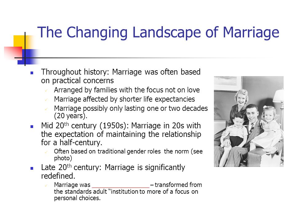 The Changing Landscape of Marriage