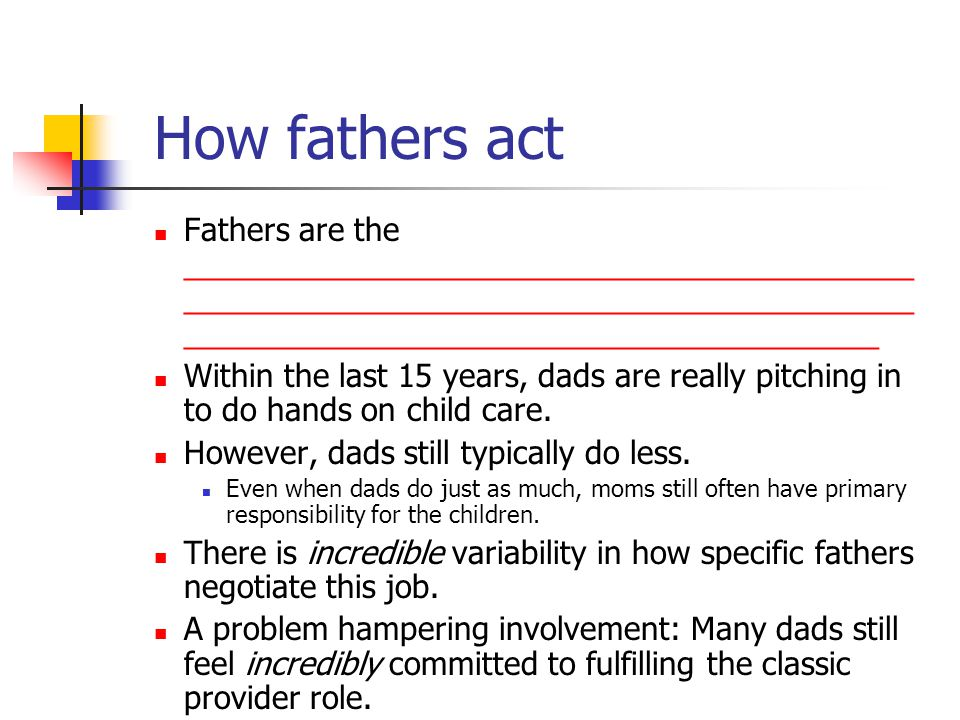 How fathers act